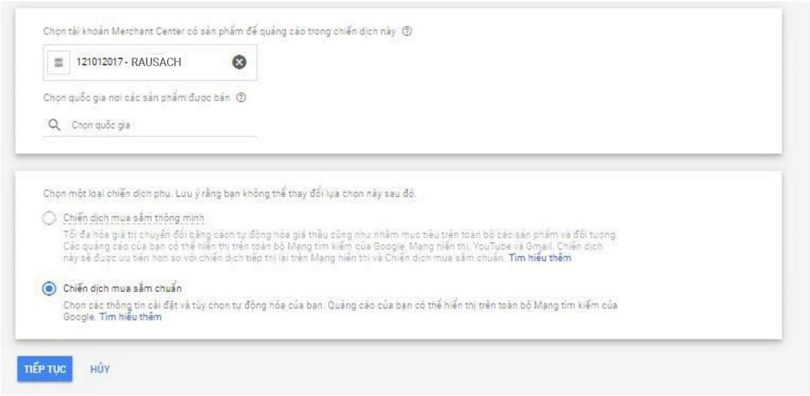 tạo tài khoản google ads và google merchant center