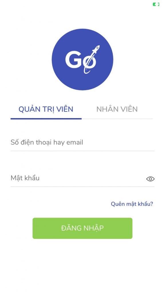 Người bán đăng nhập app GoSELLER